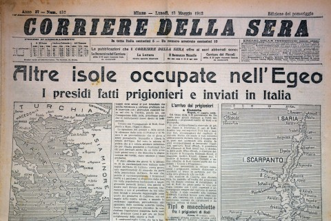 Giornali e periodici biblioteca archivio rodi egeo for Corriere della sera arredamento